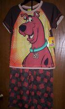 SCOOBY DOO Boy's 2 piece Pajamas size 8 NeW S/S Shirt Pants Pjs Set NWT