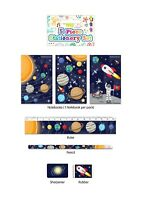 Space 5 Piece Stationery Writing Set Birthday Party Bag Filler Galaxy Space Gift