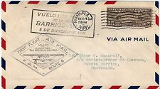 US 1931 FIRST FLIGHT MIAMI TO GUATEMALA FAM 6 FRANKED CURRENT RATE 15¢ AIR MAIL