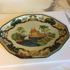 Vintage Daher Decorated ware metal tin tray Long Island NY 11101 Made in England