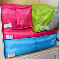 S/M/L Clothes Quilt Bdding Duvet Handles Laundry Pillow Blanket Storage Bag Box