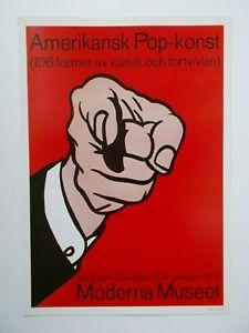 ROY LICHTENSTEIN   Original Poster aus 1977