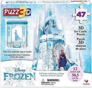 Cardinal Games Disney Frozen 2 Elsa Anna 3D Ice Castle Puzzle Playset 47 Pieces