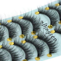 10Pairs Mink Hair False Eyelashes Thick Long Fluffy Wispy Lashes Flutter Lashes~