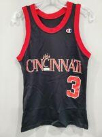 Rare Vintage 90s Champion NCAA Cincinnati Bearcats 3 Basketball Jersey Mens 36 S