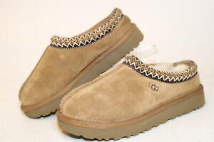 UGG Australia 5955 Tasman Womens 6 37 Brown Suede Sheepskin Slippers Shoes
