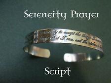 """Serenity Prayer""… Bracelet... Solid sterling silver… Not plated… Bracelet"