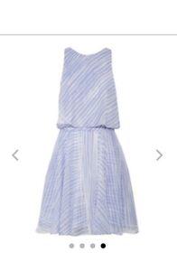Halston Heritage Dress Blue / White Pattern size 12