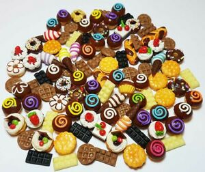 100 Dollhouse Miniature Mixed Chocolate Food * Doll Mini Cakes Wholesale Lot a2