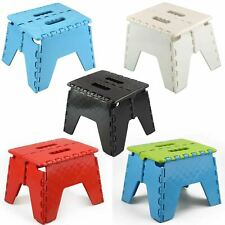 More details for plastic multi purpose folding step stool home kitchen easy storage foldable new