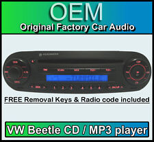 Vw beetle cd lecteur MP3, volkswagen voiture Beetle stéréo + code & free removal keys