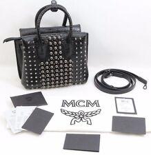 MCM Milla Pearl Studs Tote Handbag Black- New - Free Shipping