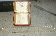 VINTAGE BOXED CIRO CULTURED PEARL NECKLACE WITH  9CT GOLD CLASP -