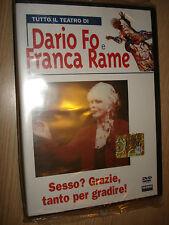 DVD LIBRO IL TEATRO DI DARIO FO E FRANCA RAME SESSO? GRAZIE, TANTO PER GRADIRE!