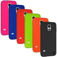 AMZER SOFT SILICONE SKIN BACK CASE COVER FOR SAMSUNG GALAXY S5 (All Carriers)