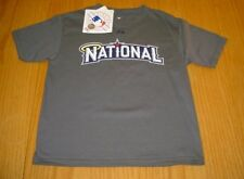 NEW WT MLB WASHINGTON NATIONALS  DARK GRAY T-SHIRT  BOYS M MAJESTIC COTTON