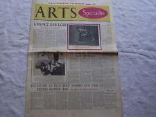 Arts spectacles,Montherlant,Dostoievski,cinema japonais Journal ancien