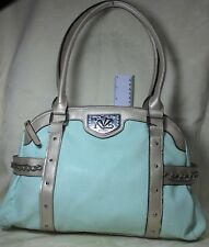 Kathy Van Zeeland Sweet Pea w/Silver Faux Pebbled Leather Bag