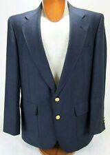 David Taylor Mens Navy Blue Blazer Sports Coat Size 40R 2 Gold Logo Buttons