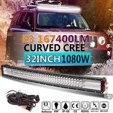 E3 32inch Curved Led Light Bar Quad-row 1080W CREE Combo Beam Offroad VS 7D 3ROW