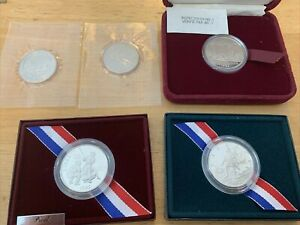 5 coin lot (2) 2001 US Capitol, 1995 Olympic, 1992 Columbus, 1982 Canadian proof