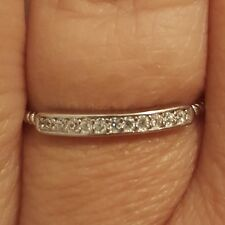 .925 Sterling Silver Ring size 2 CZ Kids Midi Ladies Baby Thumb Knuckle New x74