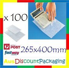 Bubble Wrap Bag 100pcs 265x400mm #5 Clear Bubble Pouch Bags