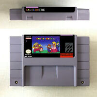 New Excitebike BS Game Card Console US Version For Nintendo SNES 16 Bit English