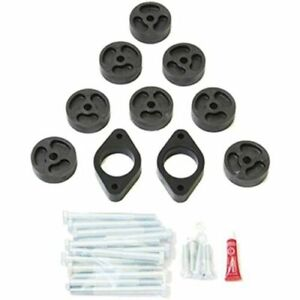 "Daystar PA993 Black 1"" Body Nylon Block Lift Kit for Jeep Wrangler JK/JKU"