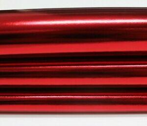 METALLIC CHRISTMAS RED Italian Lambskin leather skin skins hides 6sqf 0.7mm