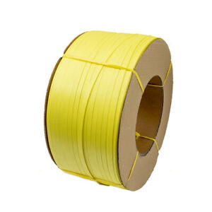 "Poly Strapping Coil 600lbs Yellow Banding Strap 1/2"" x .020"" x 7200' Bundle Ship"