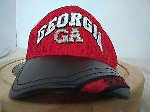 New  University of GEORGIA BULLDOGS Black/Red Baseball Cap Adjustable