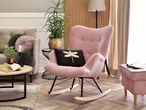 Beautiful Rocking Chair Customisable Baby Pink Nursery Classic Modern Desing
