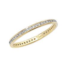 Anillos de joyería con diamantes aniversario de oro amarillo, no aplicable