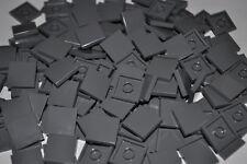 LEGO PARTS- 200X TILES DARK BLUISH GREY 2X2 STUDS/FLAT SMOOTH BUILDING PCS 3068