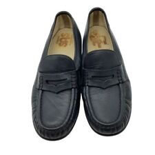 SAS Women's Classic Slip-on Black Leather Loafers Size 10
