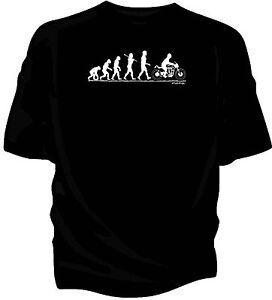 Evolution of Man, Manx Norton classic motorcycle t-shirt.