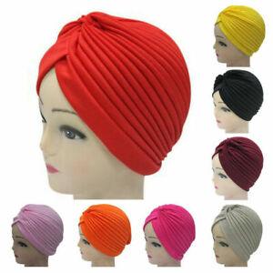 Womens floral silk night sleep cap hair bonnet hat head cover satin TURBAN wrap