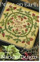 Blackbird Designs Peace on Earth Loose Feathers 28 Cross Stitch Pattern OOP