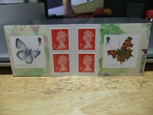 GB 6 x 1st Self Adhesive Booklet Butterflies 2013