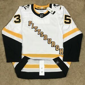 Adidas Tristan Jarry Pittsburgh Penguins Reverse Retro NHL Jersey White 52