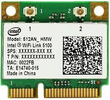 + Intel Wifi Link 5100 Dual Band 5Ghz WLAN 300Mbit/s Mini PCI Express +