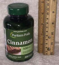 Cinnamon, from Puritans Pride.  *** 200 ***  capsules, 500 mg each