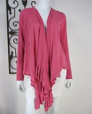 DKNY LONG SLEEVE OPEN FRONT CARDIGAN SWEATER SIZE P/S, PINK