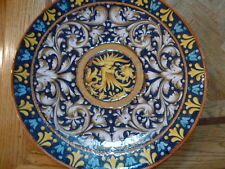 """VINTAGE  Italy Hand Painted Wall Plate/Large Centerpiece FISH  Design 20.5 """""""