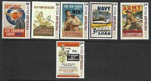 6 x New Zealand 2014 Sht stamps (REDUCED) (Poster Art) ($8.25 Bargain)