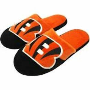 FOCO NFL Cincinnati Bengals Mens Slippers Pair Size 11/12 Slip On Hard Sole