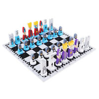 Handmade European Wooden Chess Set with 11 Inch Board and Chess Pieces