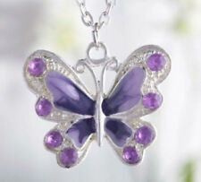 50x Silver Plated Enamel Butterfly Pendant Charms Jewelry Making Crafts 35*30mm