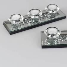 Teelichthalter, Leuchter STONES für 3 Kerzen L. 25cm Glas Formano F18